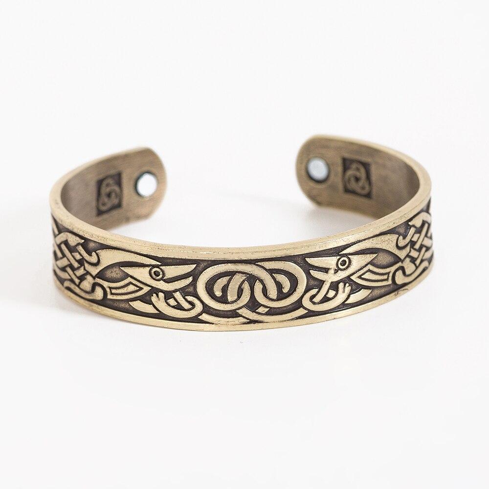 Phoenix Totem Rune Bracelet Viking Ring with Dragon Ancient Symbol Amulet symbol