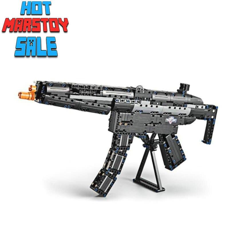 Le fusil pistolet 98 K jouets de plein air pistolet série militaire modèle Assemblage pistolet de puissance avec infrarouge visant briques jouets cadeaux pour les garçons