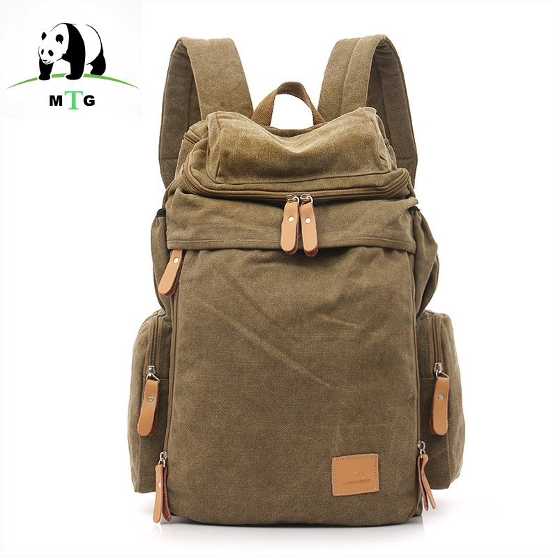 MTG Brand Men Male Canvas Backpack College Student School Backpack Bags for Teenagers Vintage Mochila Casual Rucksack Travel Bag voyjoy t 530 travel bag backpack men high capacity 15 inch laptop notebook mochila waterproof for school teenagers students