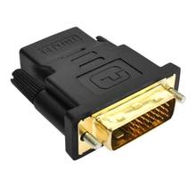 Adaptador de hdmi amkle 24 + 1 pino dvi, adaptador hdmi banhado a ouro para dvi/m conversor de vídeo 1080p para projetor hdtv ps3