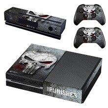 Autocollant de peau pour Console Xbox One et Kinect et 2 manettes pour autocollant de peau Xbox One le punisseur