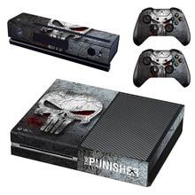 Cilt Sticker çıkartma Xbox One konsol ve Kinect ve 2 kontrolörleri Xbox One cilt Sticker için Punisher