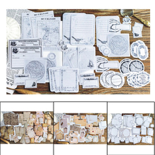 45 Pc/bag vintage memories writable paper sticker package One page of old paper DIY diary decoration sticker album scrapbooking bag miss carina bag page page 8