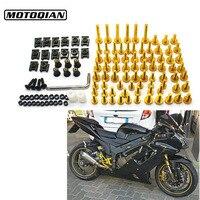 5mm/6mm CNC Aluminum Universal Motorcycle Fairing Bolts Nuts Fastener Clips Screws For Suzuki Honda Yamaha Harley BMW Kawasaki
