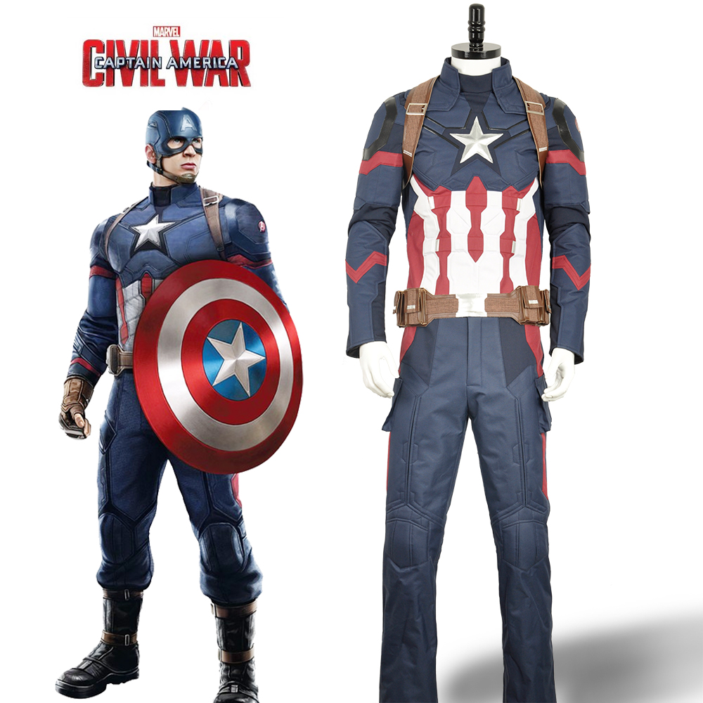high quality costume captain america 3 civil war steve roger oxford fabric cosplay costume. Black Bedroom Furniture Sets. Home Design Ideas