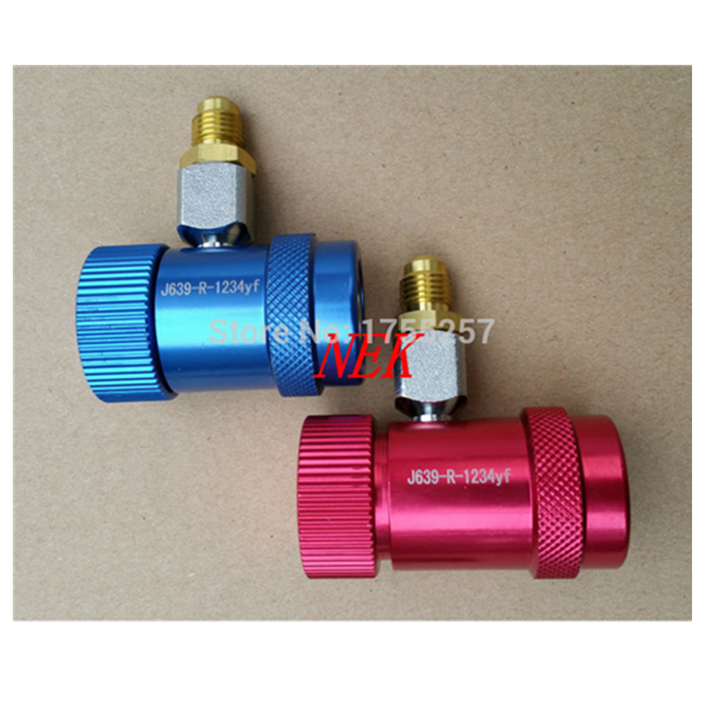 Free Shipping New Refrigerant 1234YF Manual Quick Coupler High and Low M12*1.5