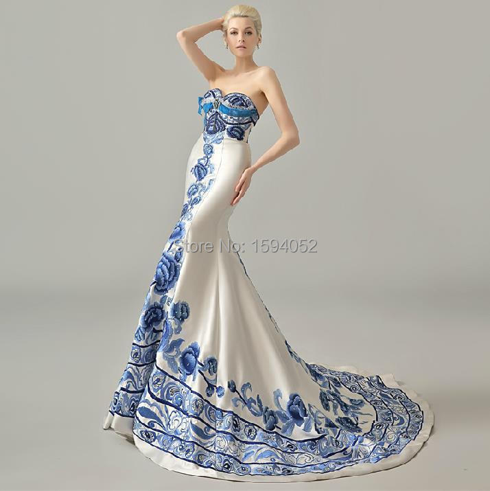 2017 New Wedding Dress Exclusive Special For Chinese Style Blue And White In Dresses From Weddings Events On Aliexpress Alibaba