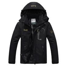 SPORTSHUB Men Winter Inner Fleece Waterproof Jacket Outdoor Warm Coat Hiking Camping Trekking Skiing Male Jackets SAA0082 недорого
