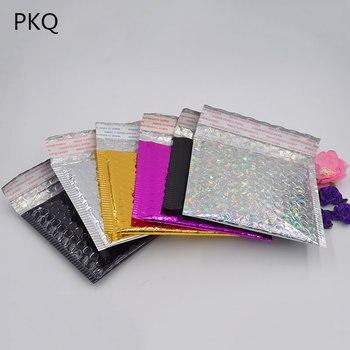 Opakowanie CD/DVD wysyłka koperty z bąbelkami złoty papier koperty bąbelkowe torba prezentowa koperta pocztowa bąbelkowa torba matowa czarna 15*13cm