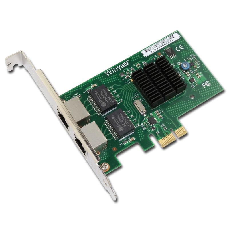 Aktiv Pci-e X1 2-port 10/100/1000 Mbps Dual Port Gigabit Lan Netzwerkkarte Adapter Nic Für Bcm5709 Iscsi-videospeicher-array Kappe üBereinstimmung In Farbe