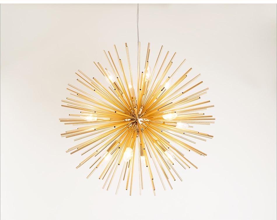 Gold Sputnik Chandelier