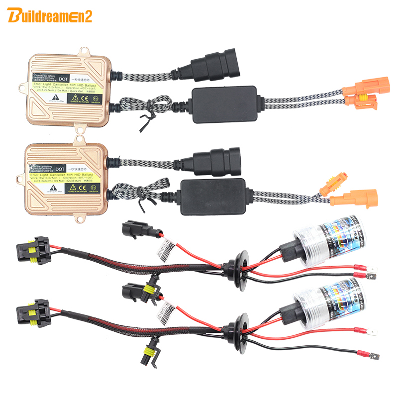 Buildreamen2 H7 55W Car Conversion HID Xenon Kit Ballast Bulb 4300K-12000K Auto Headlight Fog Lamp Daytime Running Light sentosphere набор для лепки щенки