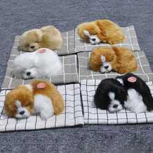 Car Ornament Fleece Plush Dogs Decoration Simulation Sleeping Dog Toy Automotive