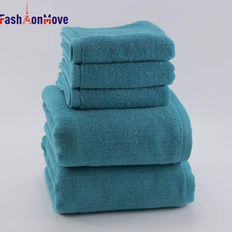 70 x 140 cm Cotton Solid Beach Bath Towel Soft Fast Drying Super Absorbant Home Textile Large Thick Towel FashionMove