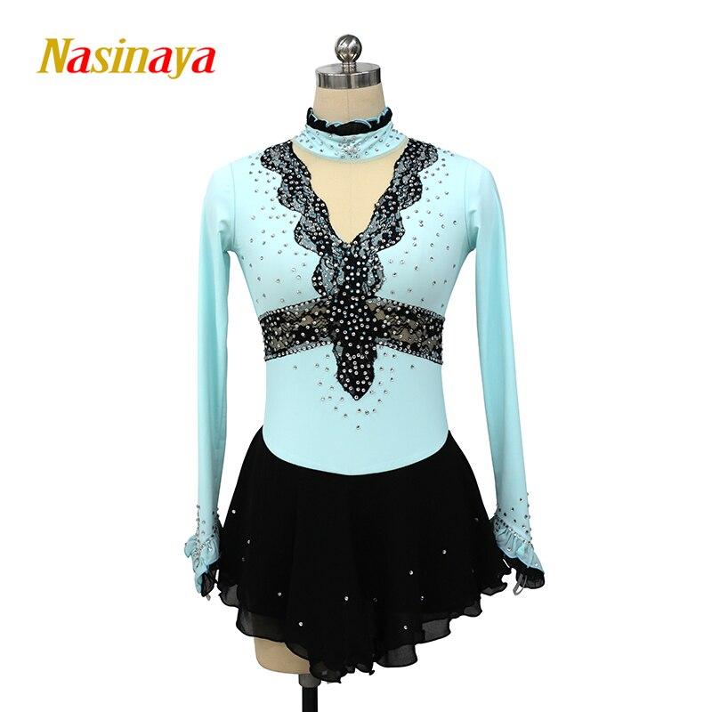 Nasinaya Figure Skating Dress Customized Competition Ice Skating Skirt for Girl Women Kids Patinaje Gymnastics Performance 108