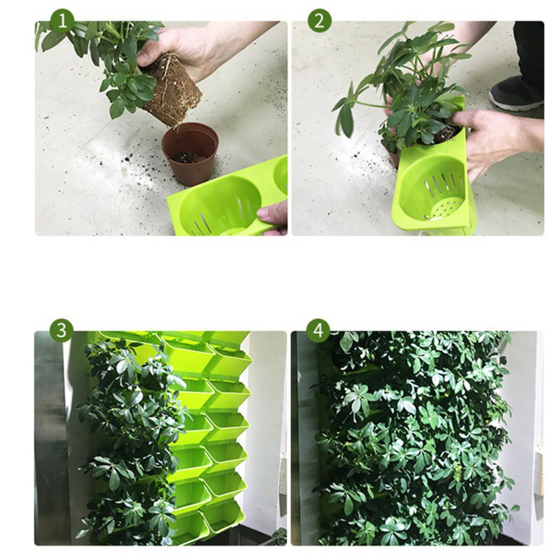 HTB1fieCbjzuK1Rjy0Fpq6yEpFXa6 - Modular Type Plant Wall Flower Pot Vertical Wall Hanging Green Flower Pot Garden Supplies