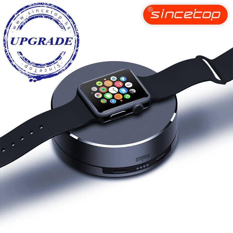 imágenes para Para iWatch Cargador Portátil, Sincetop 1500 mAh Banco Portable de la Energía Del Cargador de Batería Externa para Apple Accesorios Reloj de plata
