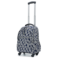 Woman Travel Bag with Wheels 20 inch Trolley bag Rolling Luggage large capacity Backpack waterproof Carry On suitcase handbags