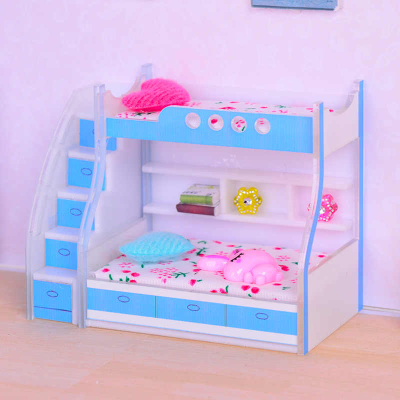 dollhouse miniature bed for 1/12 miniature doll OB11 and dollhouse Furniture accessories baby doll miniature toy accessories