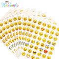 10 sheets/Pack Emoji Stickers Popular  Smiling Face Sticker For Diary Photo Album Reward Stickers School Teacher Merit Praise