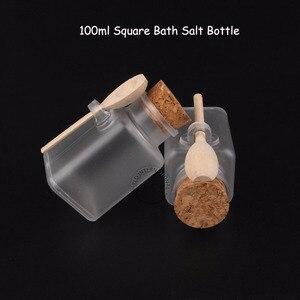 Image 3 - 35 шт./лот, оптовая продажа, 100 мл, женский косметический контейнер 10/3 унции, квадратная соль для ванны, флакон 100 г, маска для лица, крем баночка многоразового использования
