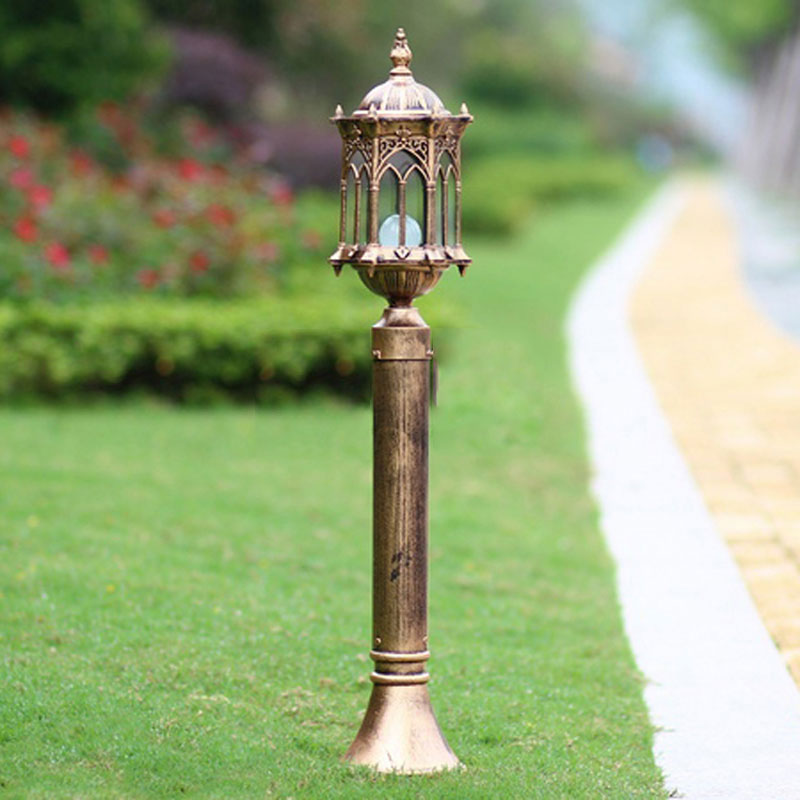 outdoor lawn lamp fashion garden road light villa backyard grass bollard light wcsoll005 - Bollard Lights