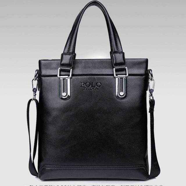 2016 New Fashion  Man Handbag PU Leather Business Messenger Bag Male Laptop Single Shoulder Bag Fashion Masculina Tote Briefcase