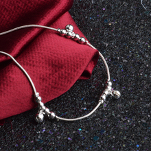 925 silver anklets for women beach anklet with beads chinese market online beaded foot jewelry ankle chain bracelets J05