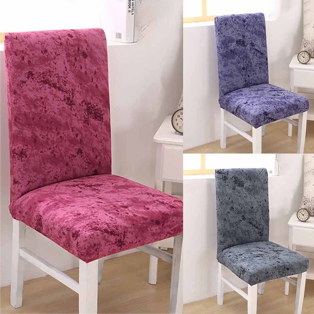 Fabric Chair Covers For Dining Room Chairs: 2019 New Stretch Fabric Dining Room Wedding Kitchen Home
