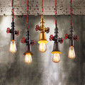 RH Vintage Loft Style Pendant Lights Iron Water Pipe Industrial Hanglamp Fixtures For Home Lightings Cafe Bar Lamparas Colgantes