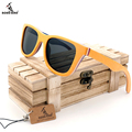 BOBOBIRD G28-2 Men's Sunglasses Cool Women Glasses Colorful Wooden Frame Polarized Lens Oculos de sol masculino With Wooden Box