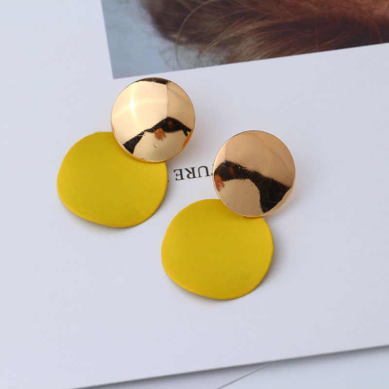 LZHLQ Drop Dangle Earrings Statement Earrings 2018 Fashion Metal Earrings For Women Gold And Silver Jewelry Simple Vintage