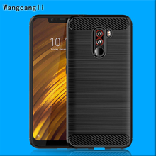 For Xiaomi Pocophone F1 Case Soft Silicone TPU Carbon Fiber Shockproof Back Cover for