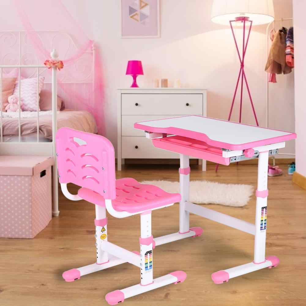 Adjustable Kids Study Desk Chair Children Activity Art Table Set Children Activity Art Table Set Metal Frame Aliexpress