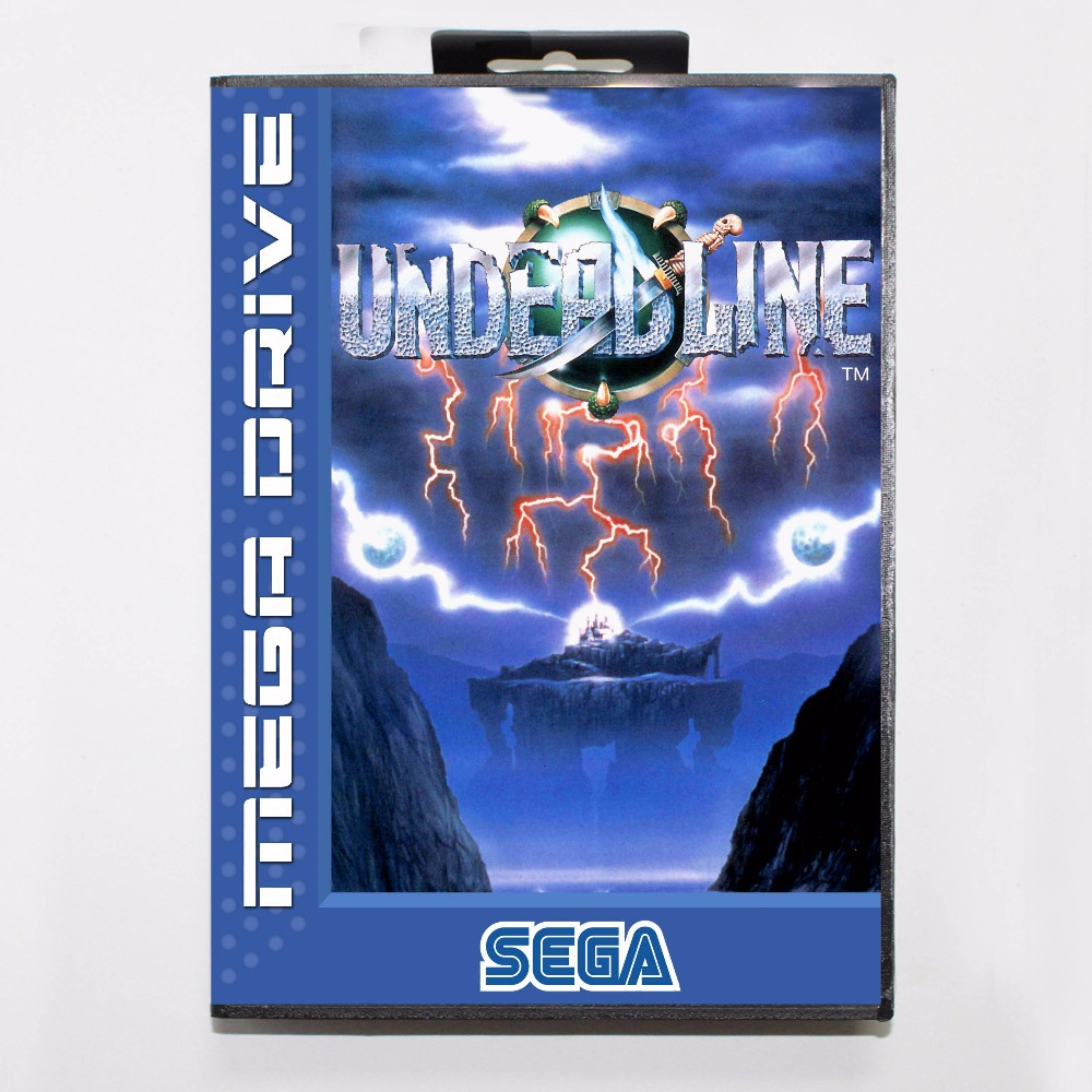 Undead line 16 bit MD Game Card With Retail Box For Sega Mega Drive/ Genesis
