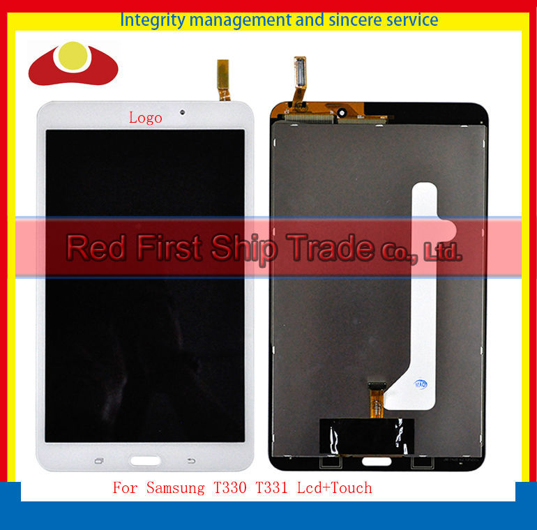Original For Samsung Galaxy Tab 4 T330 Wifi Verison Touch Screen Digitizer+LCD Display Assembly Complete 1280*800 White Black 4 3 original amoled for samsung galaxy s2 i9100 lcd display screen digitizer touch screen assembly frame free shipp