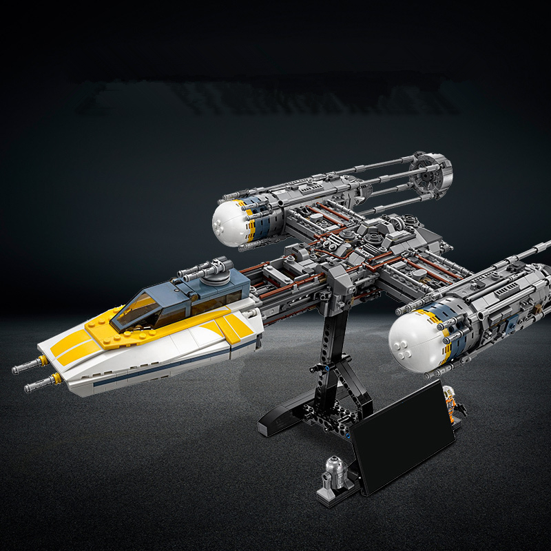 2019 Star Wars War Y-wing Fighter STARWARS Building Blocks Sets Bricks Classic Model Kids Toys Marvel Compatible(China)