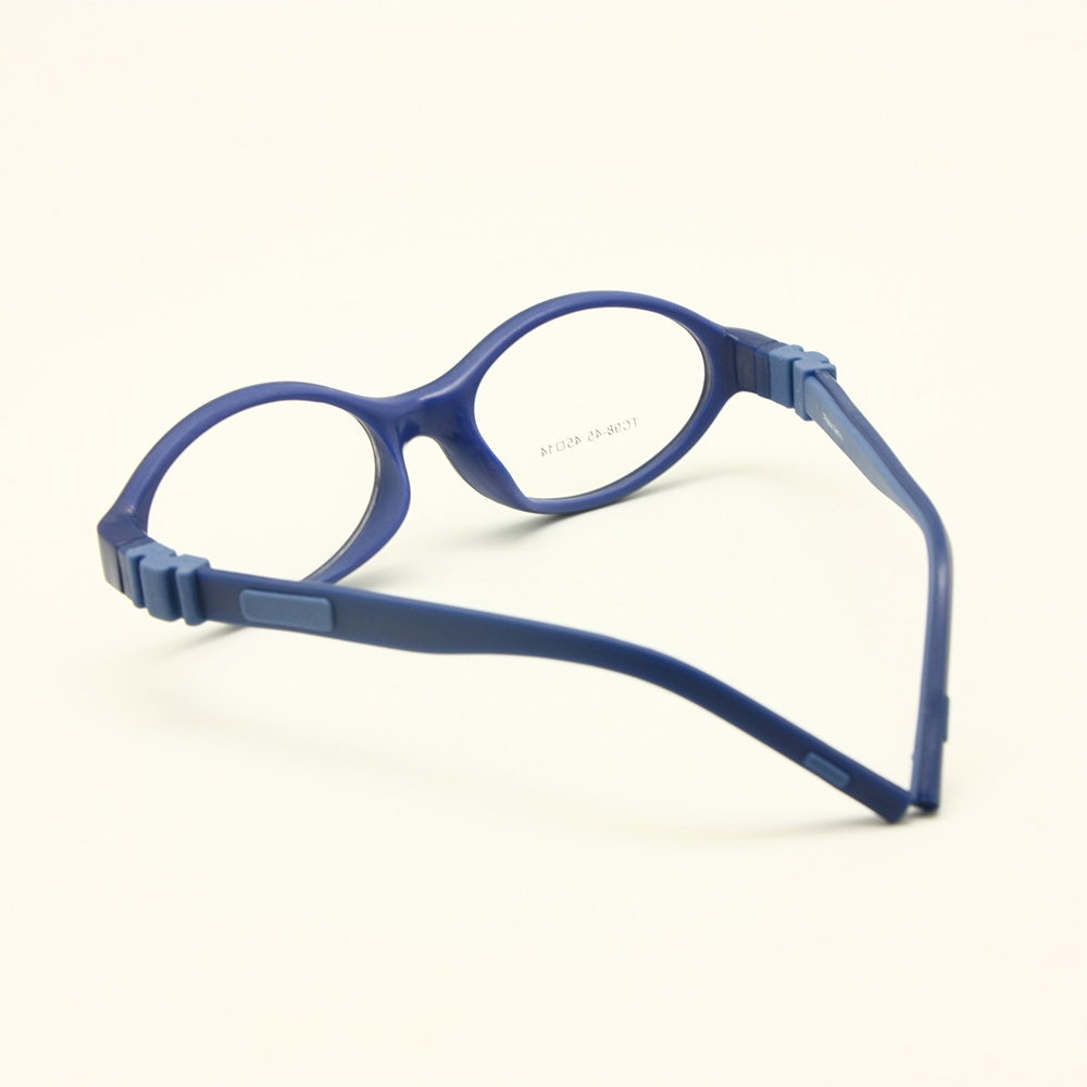 Image 2 - Silicone Glasses Frame Size 45mm No Screw Safe Flexible Optical Bendable Kids Eyeglasses Boys Girls-in Men's Eyewear Frames from Apparel Accessories