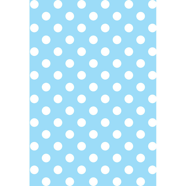 Vinyl Photography Background Blue White Dots Newborn