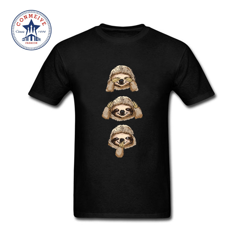 Best Gift For Friend Lovely Sloth Thanksgiving Day Funny Cotton T Shirt for men