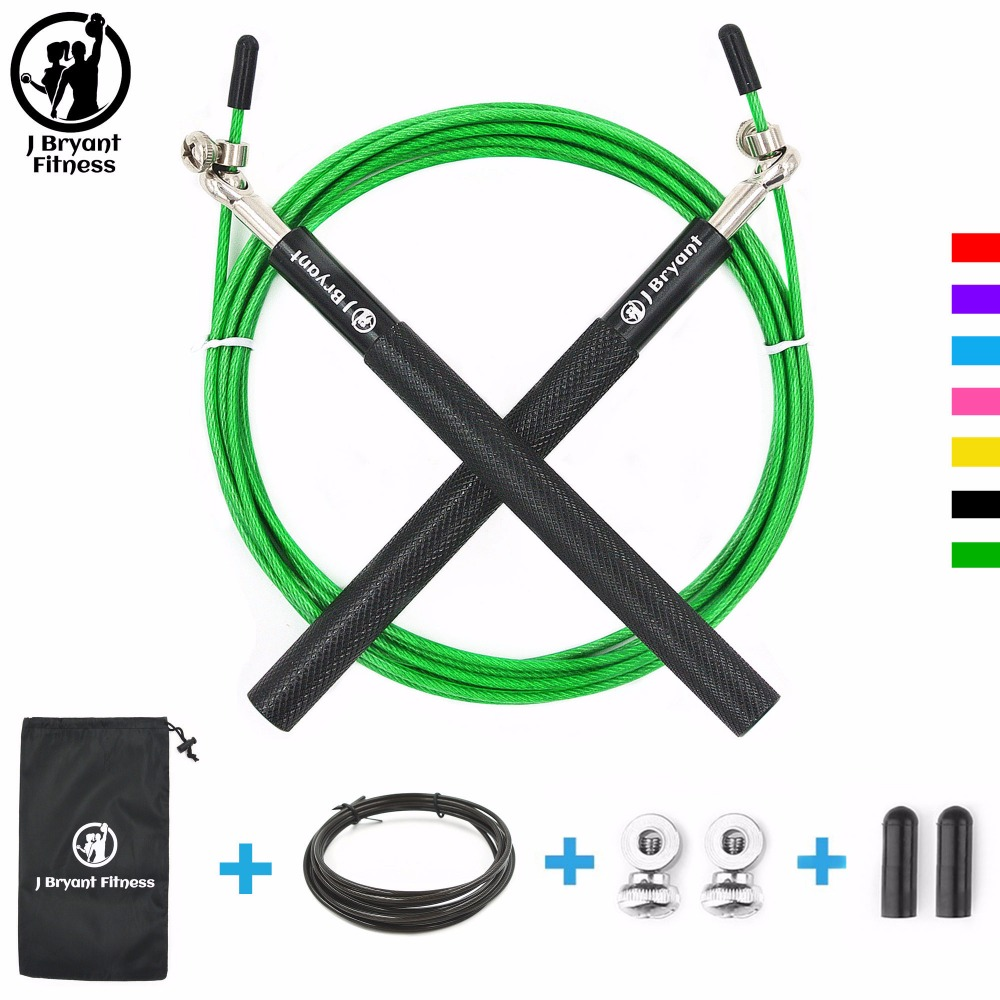 Crossfit Speed Jump Rope Professional Skipping Rope For MMA Boxing Fitness Skip Workout Training With Carrying Bag Spare Cable