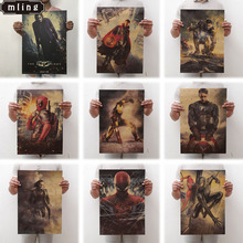 mling 1PC 51.5x36cm Movie Marvel Series Poster Avengers Infinity War Retro Wall Stickers  For Living Room Home Decoration