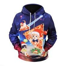 Christmas 3D Printed Cat Pizza Hoodies fashion Large Size Loose Sweatshirts  men 2018 Autumn   winter long sleeve Hoodies b39c88a8f715