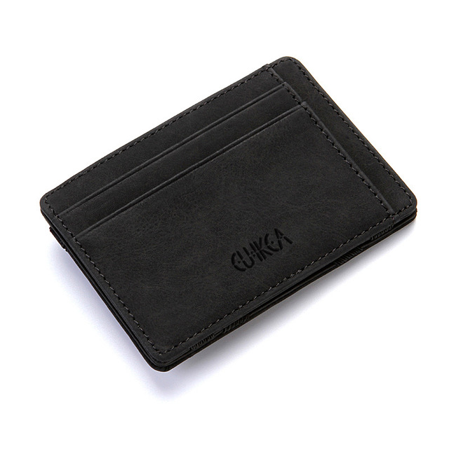 Hot Sale Multifunction Fashion Unisex Women Men PU Leather Purse Clutch Wallet Simple Card Holder Bag ID Credit Card Coin Holder