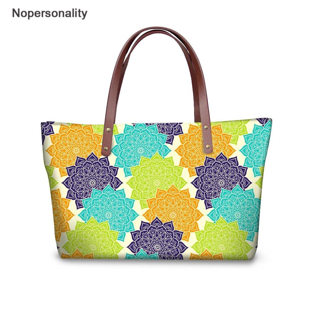 Indian Mandala Womens Fashion Large Tote Ladies Handbag Shoulder Bag