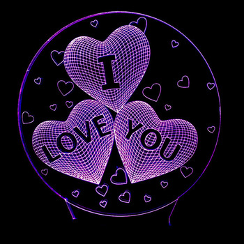 Valentine's day gift I LOVE YOU Colorful 3D Hologram Lamp USB Acrylic Lights party favor girlfriend gift present anniversary 1