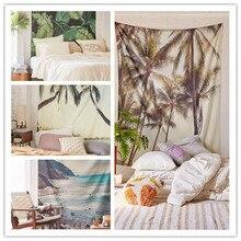 Bohemia escénica tapiz mandala tapiz manta del árbol de coco de la india de viaje del verano de boho beach toalla de yoga mat cappa tippet