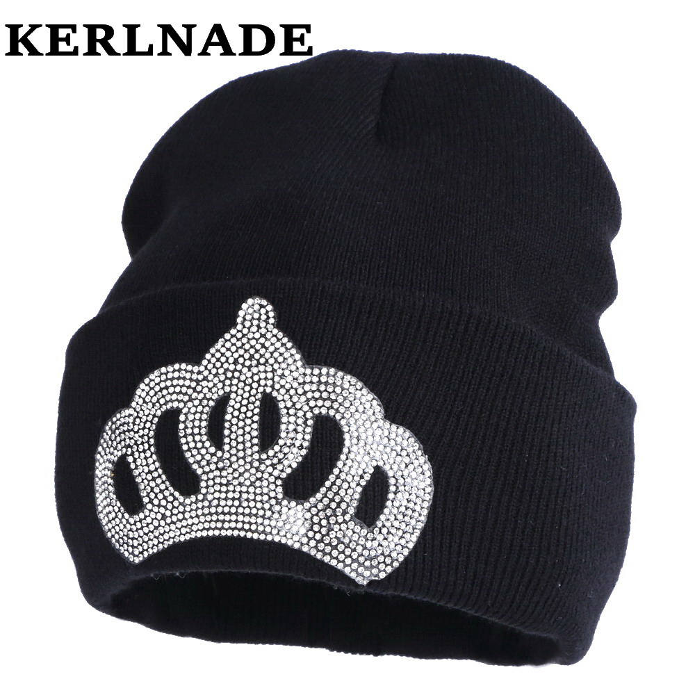 wholesale women fashion winter hat casual girl beanies crown style skullies solid colored rhinestone luxury woman gorros hats wholesale boy girl floral beauty skullies colored rhinestone flower style luxury winter hats for children 3 12 year kid beanies