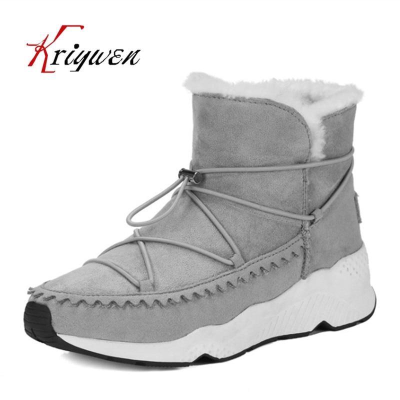 2017 Winter Warm Snow Boots Fashion Women New Boots Woman Shoes Comfortable Leisure Lady Ankle Boots Female BLack Femmes Botas