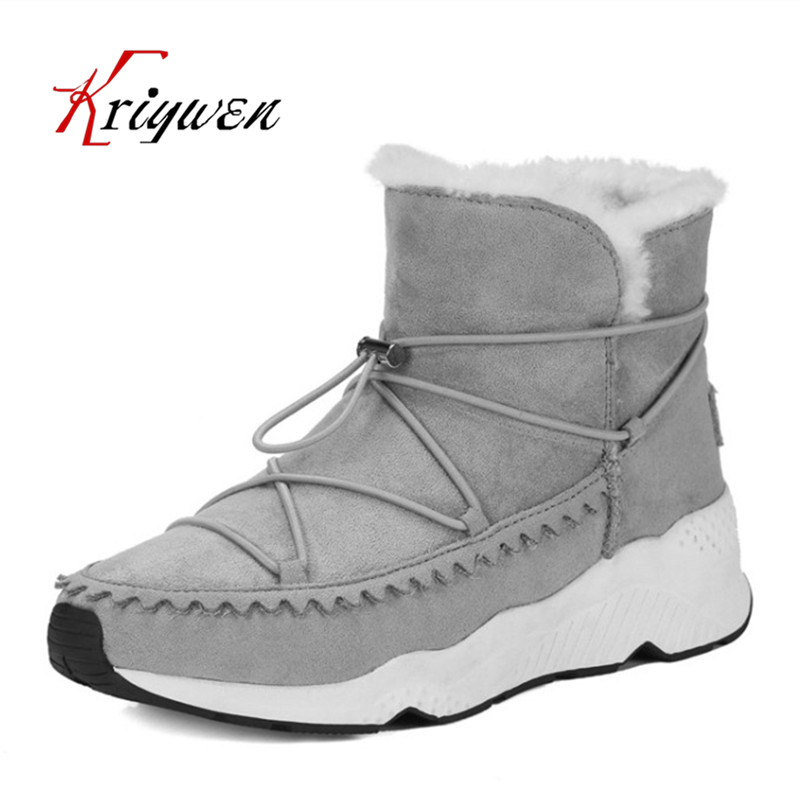 2017 winter warm snow boots fashion women new boots slip on woman shoes comfortable leisure lady ankle boots female black botas цены онлайн